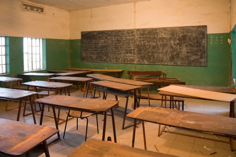 Classroom of the Armitage Senior Secondary School/The Gambia